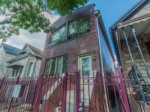 2109 N Bingham, Chicago, IL 60647 Logan Square