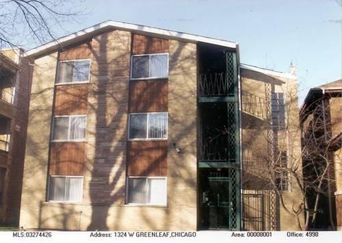 1324 W Greenleaf Unit B2, Chicago, IL 60626