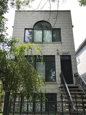 2415 W Palmer, Chicago, IL 60647 Logan Square