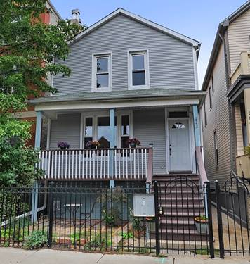 2872 W Palmer, Chicago, IL 60647 Logan Square