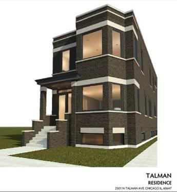 2501 N Talman, Chicago, IL 60647 Logan Square