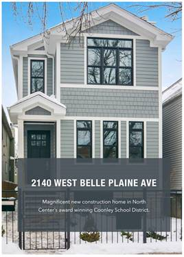 2140 W Belle Plaine, Chicago, IL 60618 North Center