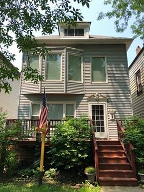 4044 N Campbell, Chicago, IL 60618 Northcenter