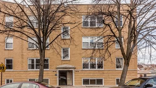 3414 W Cullom Unit 1, Chicago, IL 60618 Irving Park