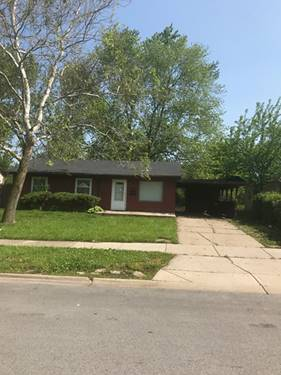 607 Andover, Chicago Heights, IL 60411