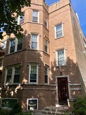6251 N Claremont Unit 3, Chicago, IL 60659 West Ridge