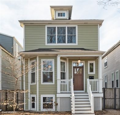 3626 N Seeley, Chicago, IL 60618 Northcenter