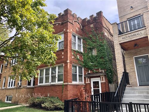 4431 N Kimball, Chicago, IL 60625 Albany Park