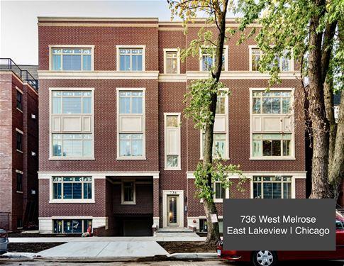 736 W Melrose Unit 3W, Chicago, IL 60657 Lakeview