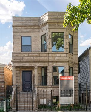 1734 N Mozart, Chicago, IL 60647 Logan Square