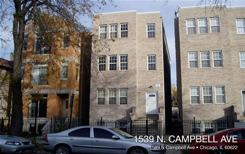 1539 N Campbell, Chicago, IL 60622 Humboldt Park