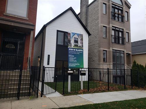 2139 W Gladys Unit 1, Chicago, IL 60612 Near West Side