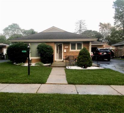 4109 W 109th, Oak Lawn, IL 60453
